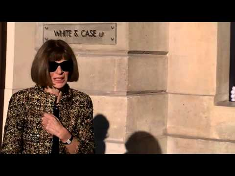 Anna WINTOUR @ Paris 25 january 2016 show Schiaparelli Fashion Week