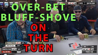Poker Time: A HUGE bluff on the turn and other action