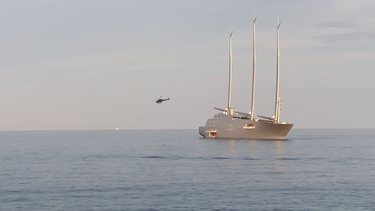 What Insane Helicopter Landing On Superyacht Sailing Yacht A