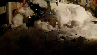 Outdoor Runby Of My Train At The Rocky Ridge Christmas Display In York.avi