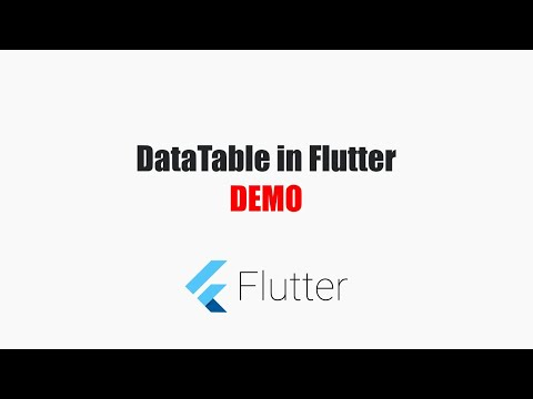 Flutter Tutorials – DataTable (Android & iOS)  – MOBILE