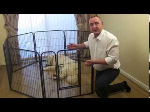 Heavy Duty 8 Panel Pet Dog Enclosure Puppy Pen Youtube
