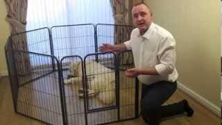Heavy Duty 8 Panel Pet Dog Enclosure Puppy Pen