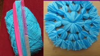 new idea hair comb woollen flower amazing trick beautiful hand embroidery trick and tricks flower