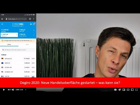 Degiro 2020: Neue Handelsplattform gestartet mit neuem Look & Feel und kleiner Verbesserung