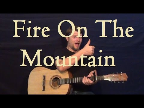Fire on the Mountain (Marshall Tucker) Guitar Lesson Strum Chord Country Feel How to Play