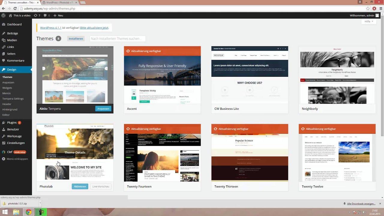 Wordpress Design / Theme ändern - YouTube