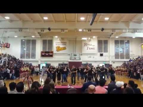 Cupertino High Staff Dance at Hall of Fame Rally May 2016