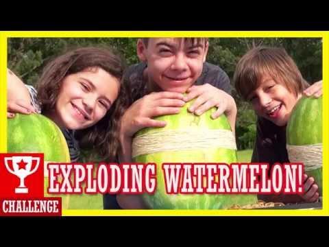 EXPLODING WATERMELON CHALLENGE!  |  KITTIESMAMA