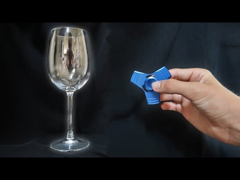 Thumbnail: 1000mph FIDGET SPINNER VS WINE GLASS!