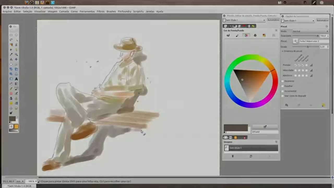 how to make watercolour in gimp