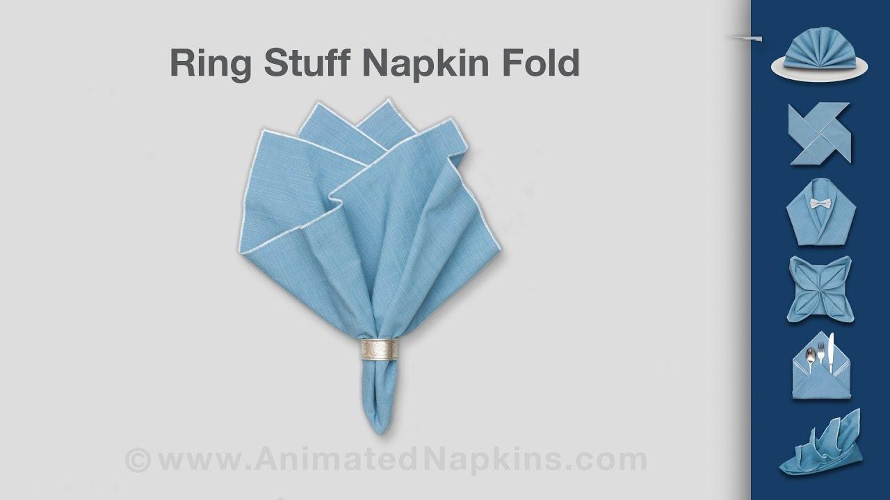 Napkin Ring Stuff   How to Fold a Napkin Ring Stuff - YouTube