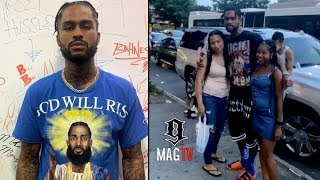 """Dave East Spotted """"OUTSIDE"""" In The Trenches Getting Hood LUV! 💙"""