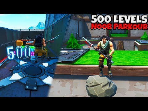 500 LEVELS NOOB PARKOUR! - Fortnite met Vincent