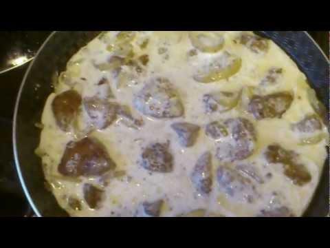 Как приготовить печень свиную со сметаной