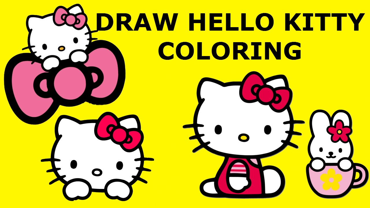 Hello kitty coloring pages Hello Kitty раскраски Hello ...