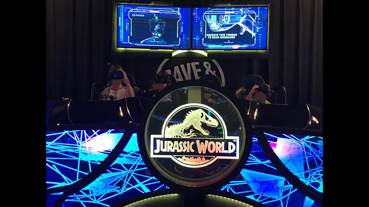 Dave Buster S Arcade New Jurassic World Vr Expedition