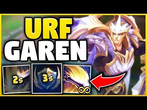 FIRST TIME URF GAREN (30+ KILLS) DIAMOND GAREN MAIN GETS GAREN IN URF! - League Of Legends