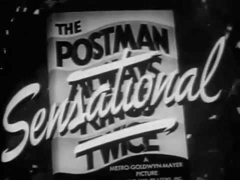The Postman Always Rings Twice | Trailer (1946) [Film Noir] [Drama]