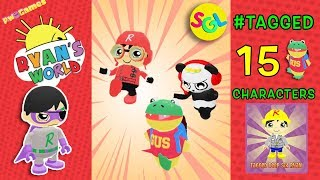 Ryan Tags GUS 15x 😲!!! Dark Titan & other Characters TAG With RYAN | Ryan ToysReview Game App