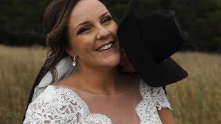 Groom Cries After Seeing His Bride || Black Leg Ranch Wedding Video