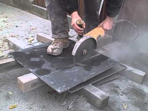 Cutting Slate Using An Angle Grinder Youtube