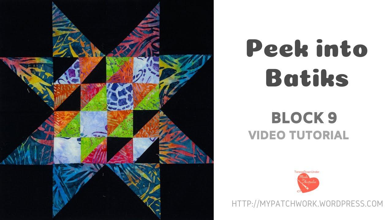 Block 9 Peek into batiks