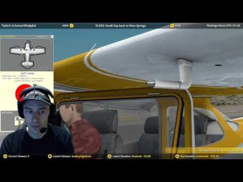 ✈ S1.E53: Small hop back to Palm Springs | A2A | PilotEdge | Prepar3D