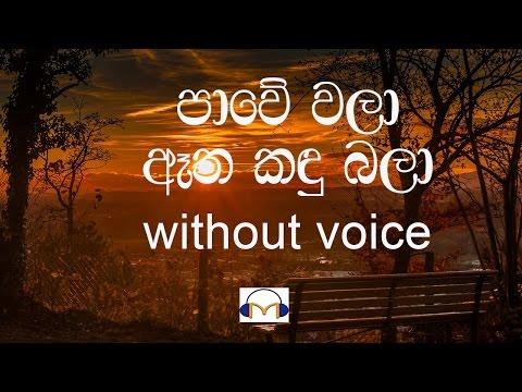 Pawe Wala karaoke (without voice) පාවේ වලා ඈත කඳු බලා