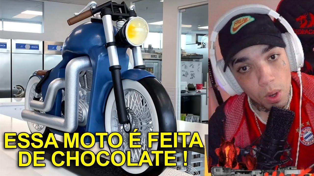 ELE FEZ UMA MOTO USANDO CHOCOLATE! - Aleatoriamente React