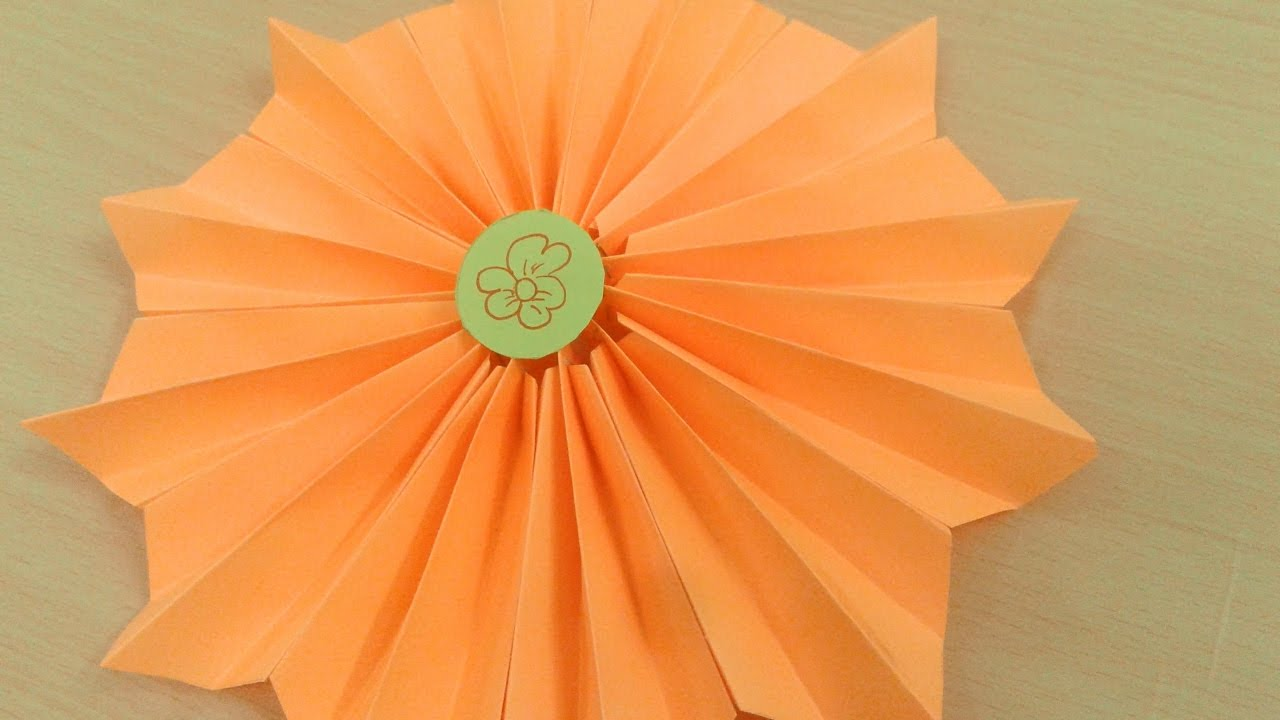 How To Make A Paper Accordion Paper Flowers Diy Youtube
