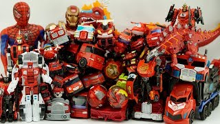 Tobot Red Car Transformers HelloCarbot Robot Color Fire Trucks, Marvel #Superheroes Collection Toys