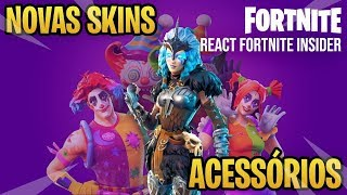 FORTNITE-3 NEW SKINS-WOMEN's RAGNAROK and CLOWNS react FORTNITE INSIDER