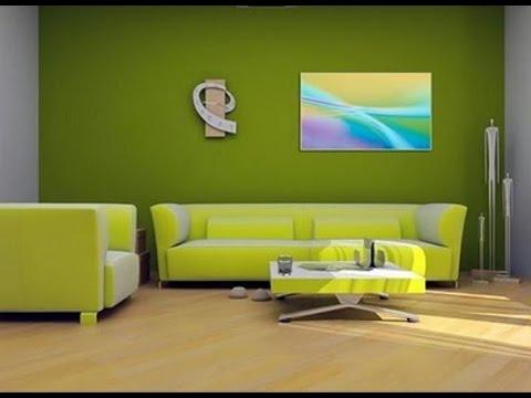 Desain Ruang Tamu Warna Hijau Muda