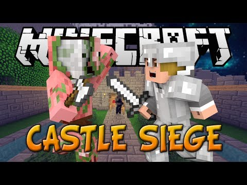 "NEW MINECRAFT MINI-GAME: CASTLE SIEGE BETA ""PROTECT THE KING!"" w/Preston, Lachlan, and Choco!"