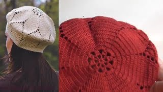 Берет крючком  Как связать и рассчитать берет Ч1  beret knitted
