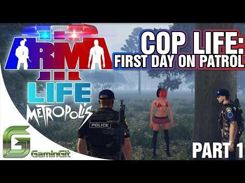 ARMA 3: Metropolis Life Mod - Cop Life - Part 1