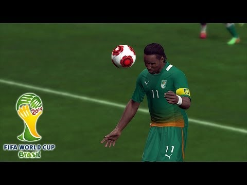 Ivory Coast vs. Colombia | 2014 FIFA World Cup Simulation | Pro Evolution Soccer 2014 (PES 2014)