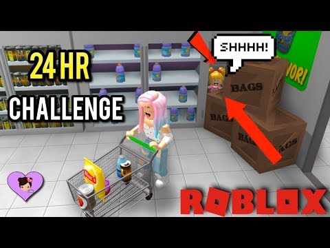 24 Hour Supermarket Challenge in Roblox with Goldie & Titi Games - Bloxburg Roleplay