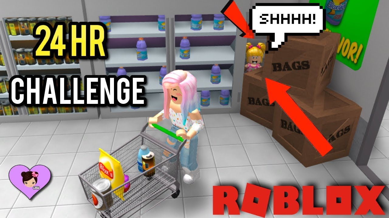 24 Hour Supermarket Challenge In Roblox With Goldie Titi Games