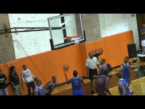 Kemba Walker dunks during Dyckman Summer League Game