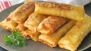 Spring rolls with homemade dough. Recipe very easy step by step
