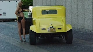 my girl jessie with my 32 ford photo shoot