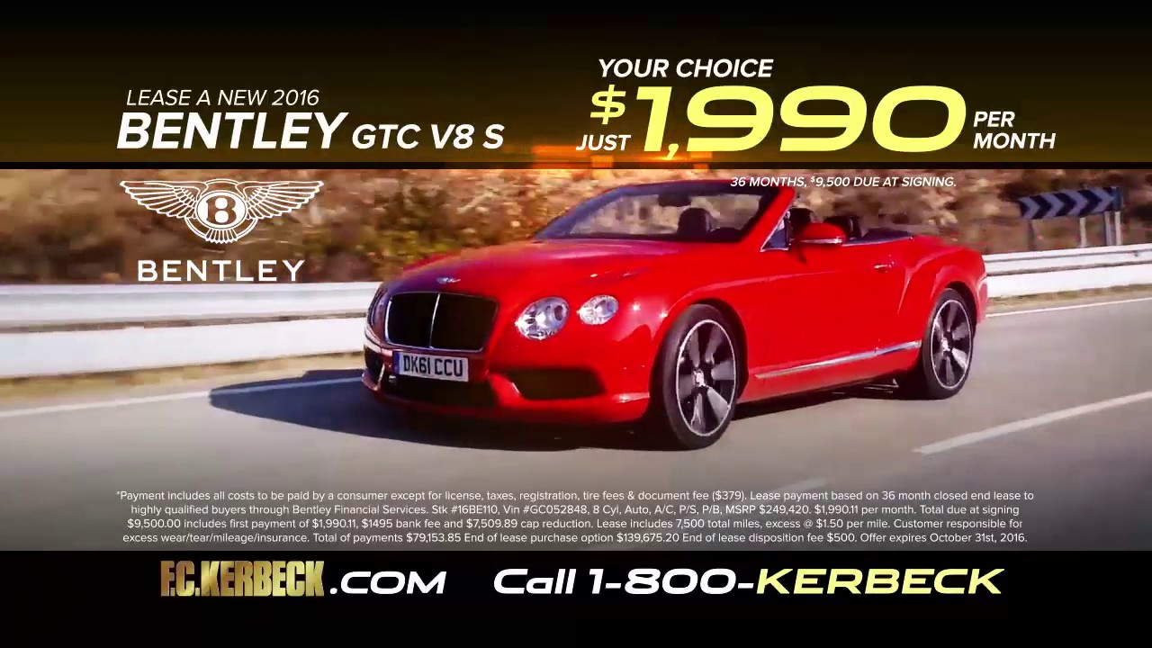 Fc Kerbeck Bentley Is A Luxury Bentley Dealer Featuring Bentley