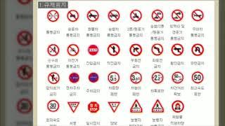 교통안전표지판-규제표지