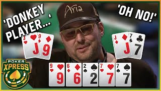 When the poker gods are HAVING FUN with PHIL HELLMUTH!