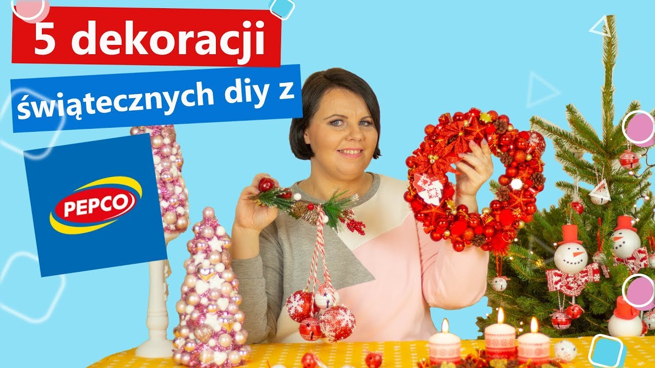 604eee7003ba5d 5 pomysłów na dekoracje świąteczne DIY z PEPCO   Twoje DIY #67 - YouTube