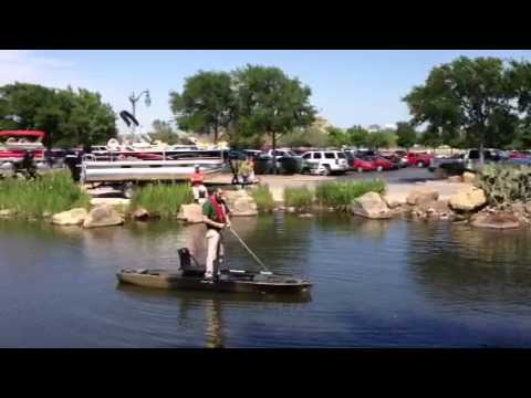 Bass pro shops ascend fs128t kayak demo dean brown youtube for Bass pro fishing kayak