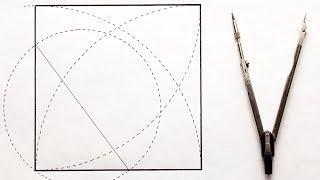 Построение квадрата циркулем по заданной стороне