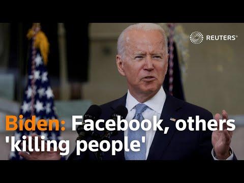 Online misinformation 'killing people,' President Joe Biden says